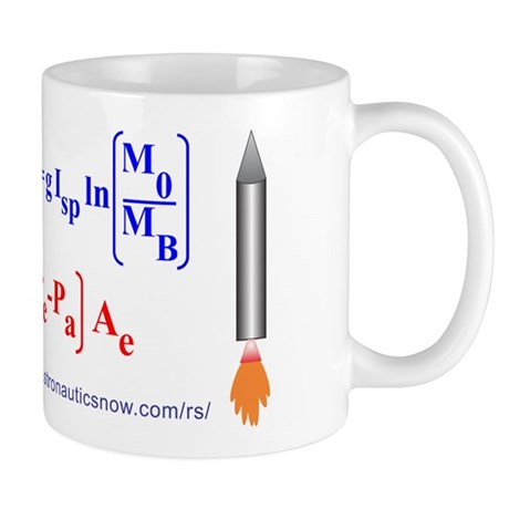 Rocket Equation And Engine Thrust Mug Mugs