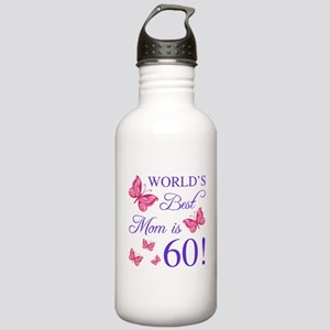 60th Birthday For Mom Stainless Water Bottle 1.0L