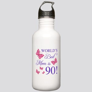90th Birthday For Mom Stainless Water Bottle 1.0L