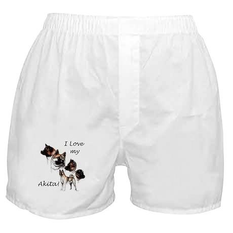 I Love My Akita Boxer Shorts