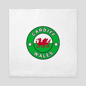 Cardiff Wales Queen Duvet