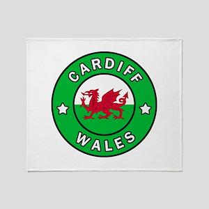 Cardiff Wales Throw Blanket