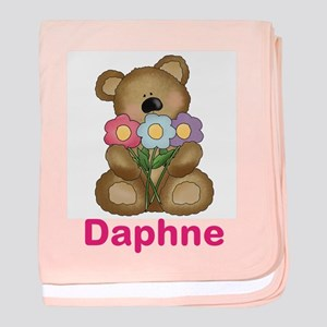 Daphne's Bouquet Bear baby blanket