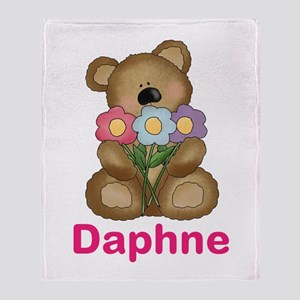 Daphne's Bouquet Bear Throw Blanket