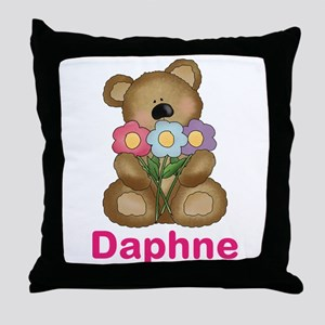 Daphne's Bouquet Bear Throw Pillow