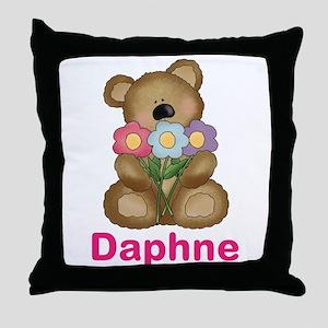 Daphne's Bouquet Bear Throw Pillow
