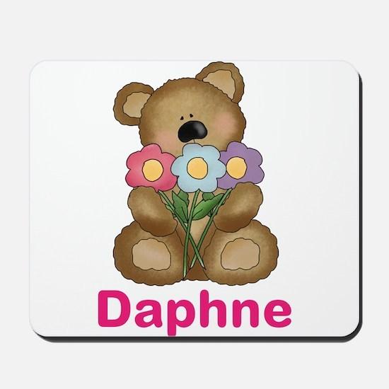 Daphne's Bouquet Bear Mousepad