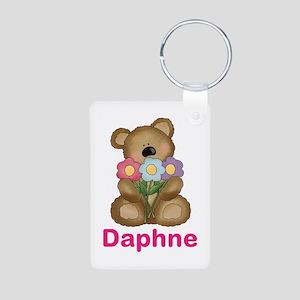 Daphne's Bouquet Bear Aluminum Photo Keychain
