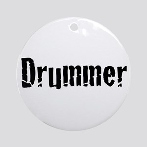 Drummer Text Round Ornament