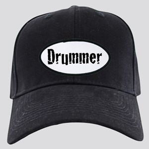 Drummer Text Black Cap with Patch