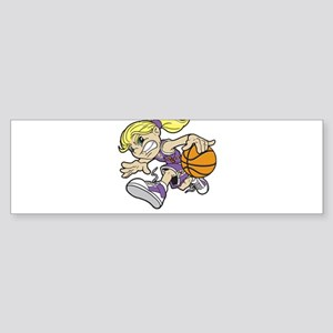 BASKET GIRL AUTISM RIBBON Bumper Sticker