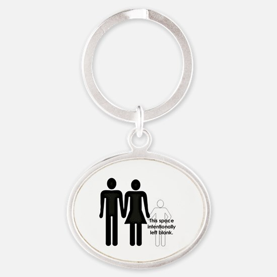 Cute Childfree Oval Keychain