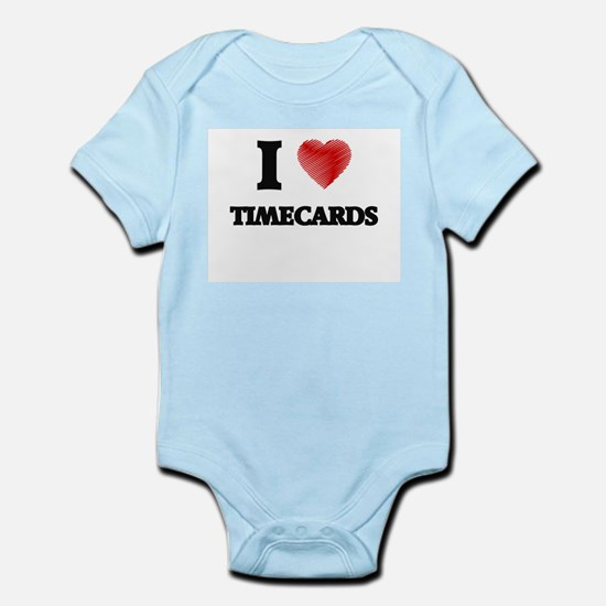 I love Timecards Body Suit