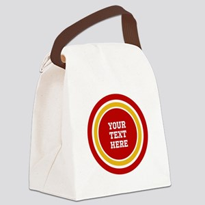Red and Gold School Colors or Tea Canvas Lunch Bag