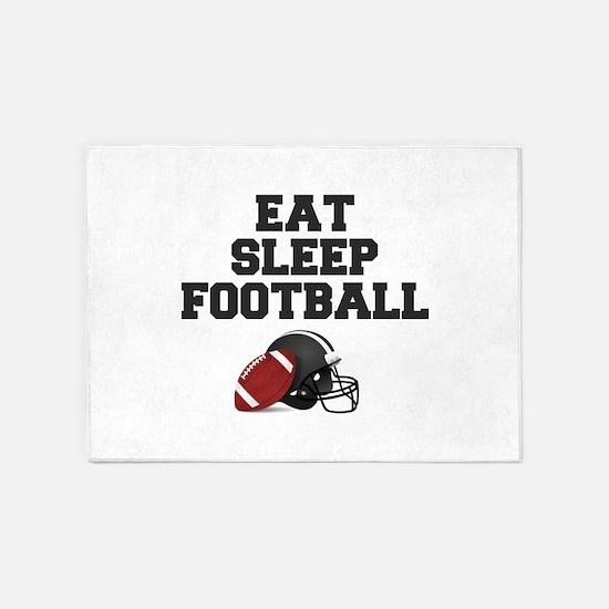 Eat Sleep Football 5'x7'Area Rug