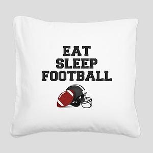 Eat Sleep Football Square Canvas Pillow