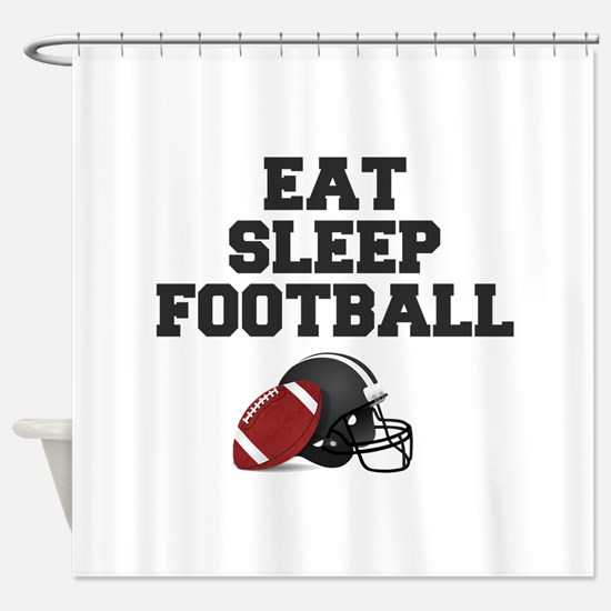 Eat Sleep Football Shower Curtain