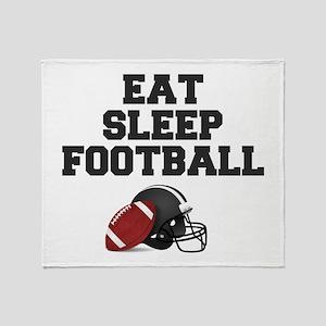 Eat Sleep Football Throw Blanket
