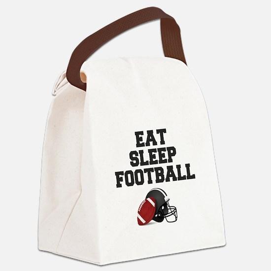 Eat Sleep Football Canvas Lunch Bag