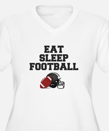Eat Sleep Football Plus Size T-Shirt