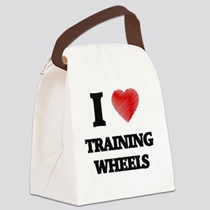 I love Training Wheels Canvas Lunch Bag