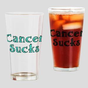 CANCER SUCKS Drinking Glass