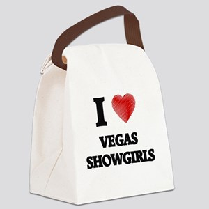 I love Vegas Showgirls Canvas Lunch Bag