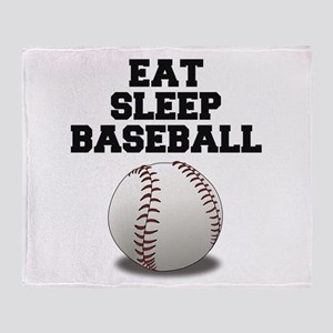 Eat Sleep Baseball Throw Blanket