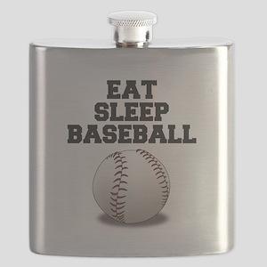 Eat Sleep Baseball Flask