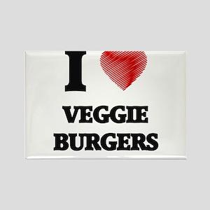 I love Veggie Burgers Magnets