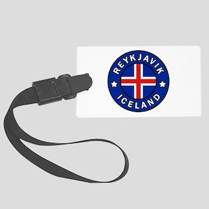 Reykjavik Iceland Large Luggage Tag