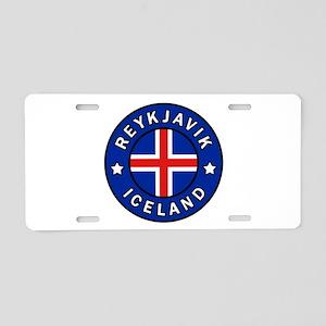 Reykjavik Iceland Aluminum License Plate