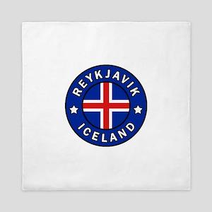 Reykjavik Iceland Queen Duvet