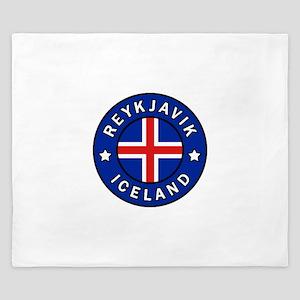 Reykjavik Iceland King Duvet