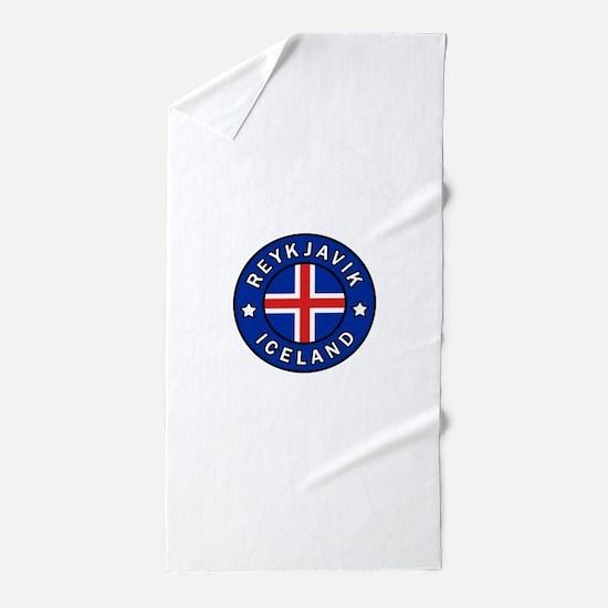 Reykjavik Iceland Beach Towel