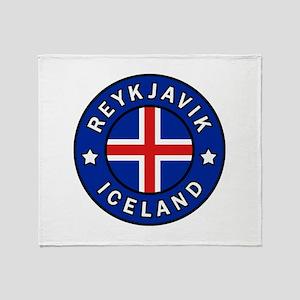 Reykjavik Iceland Throw Blanket