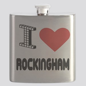 I Love Rockingham City Flask