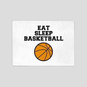 Eat Sleep Basketball 5'x7'Area Rug