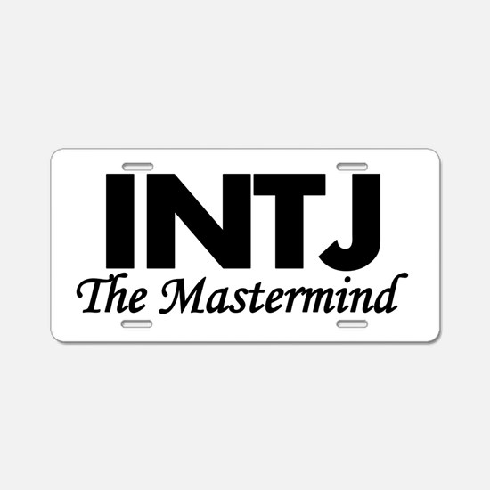 INTJ | The Mastermind Aluminum License Plate