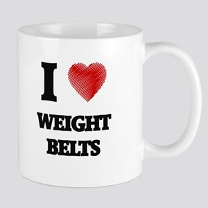 I love Weight Belts Mugs