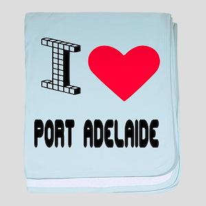 I Love Port Adelaide City baby blanket
