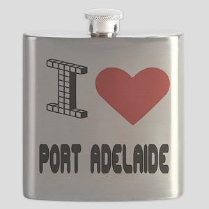 I Love Port Adelaide City Flask