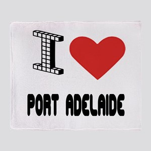 I Love Port Adelaide City Throw Blanket