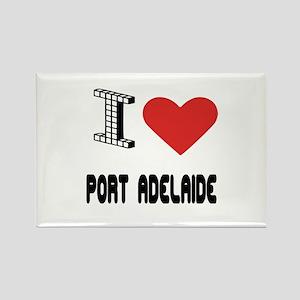 I Love Port Adelaide City Rectangle Magnet