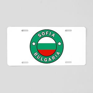 Sofia Bulgaria Aluminum License Plate