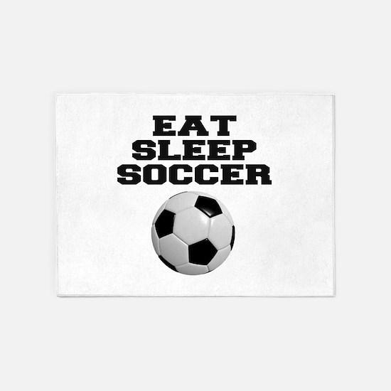 Eat Sleep Soccer 5'x7'Area Rug