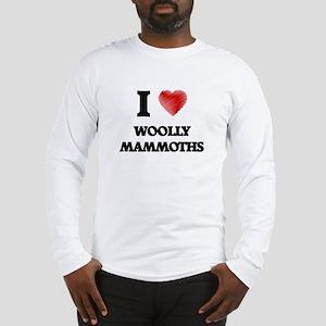 I love Woolly Mammoths Long Sleeve T-Shirt
