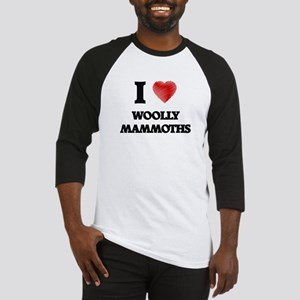 I love Woolly Mammoths Baseball Jersey