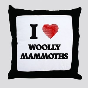 I love Woolly Mammoths Throw Pillow