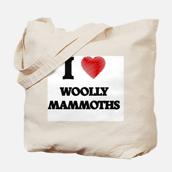 I love Woolly Mammoths Tote Bag